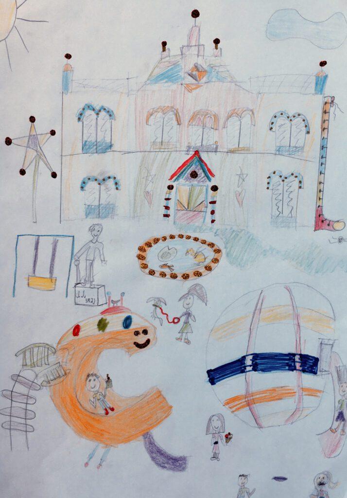 Dečiji crteži na temu Zmaj Jovina ulica
